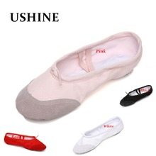 According The CM To Buy,Canvas Ballet Dance Shoes For Girls Woman Children Slippers Zapatos De Punta De Ballet Free Shipping