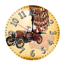2017 top fashion wall clock wooden clocks modern Home Decor For living room quartz watch single face still life stickers(China)