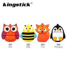 New USB Flash Drive Fox/bee/Owl/Penguin 64g 32g 16g 8g 4g USB Stick 2.0 Pen Drive Pendrive Animal Computer USB Drive U Disk