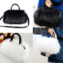 New Lovely women bags Faux Rabbit Fur bags Small Messenger Bag for Women Crossbody Shoulder Bags Winter