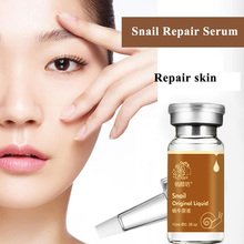 Brand Pure Original Snail Extract Repair Solution Essence Liquid Facial Serum 10ml Acne Scar Remove Moisturizing Whitening 10ml