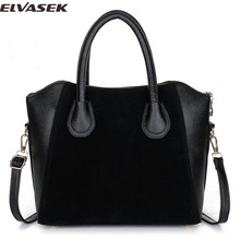 Elvasek 2016 handbag women bag spring nubuck leather bags women messenger bags free shipping women handbags bolsas LS6514