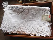 British exports collectibles * Hand Drawn white cotton openwork lace embroidered tablecloths catch / cover towel(China)