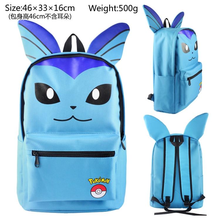Pokemon Go vaporeon Backpack Bag School Book Bag Cute Cartoon Smile Face Bag Kids Boys Girls Gift Xmas Mochila <br><br>Aliexpress