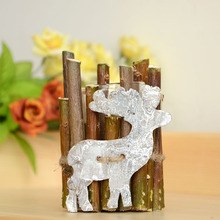 Candlestick Zakka Creative Home Furnishing ornaments Bark crafts Wooden decorations  fawn candleholder  candler