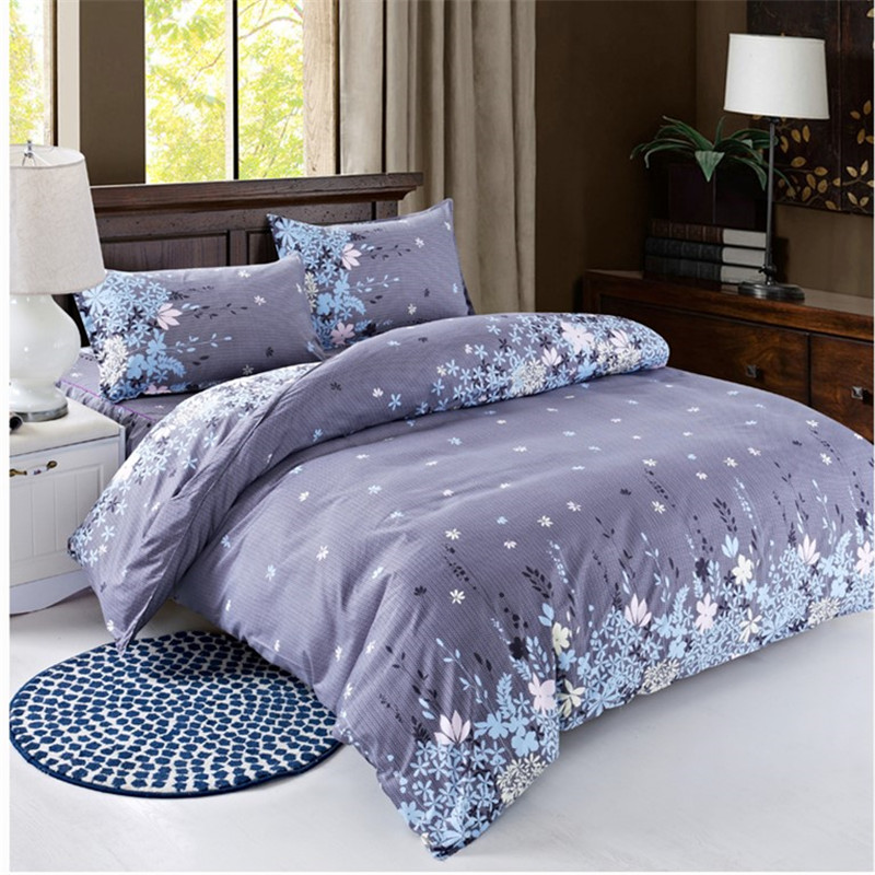 New Cotton Blend Bedding Set Duvet Cover Flat sheet Bed Sheet Pillowcase Fitted Sheet Twin Full Queen Size 8
