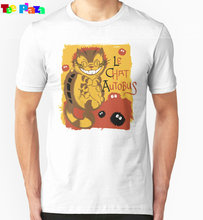 Teeplaza New Arrival Rushed O-neck Cotton Print Cool Shirts Online Short Sleeve Fashion 2017 Mens Le Chat Autobus - Catbus Tees