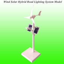2017 New Arrival Mini Wind Solar Hybrid Road Lighting System Model Mini Solar Toy Mini Wind Turbine Generator Model