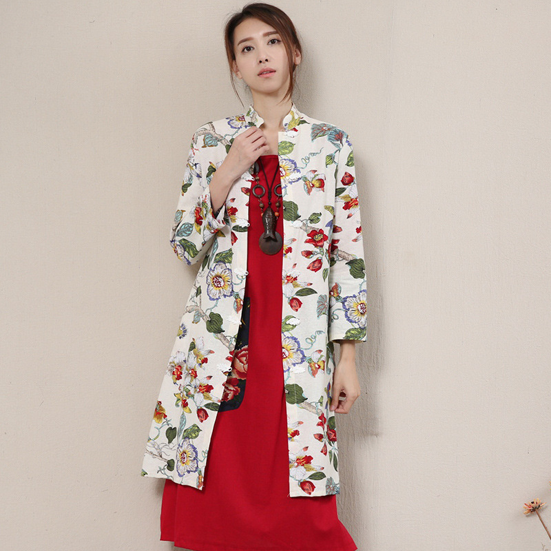 Designer 2017 Women Autumn Winter Fashion National Wind Chinese Style Fashion Vintage Plate Buttons Long Cardigan Wool CoatОдежда и ак�е��уары<br><br><br>Aliexpress