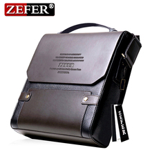 HOT Sale! Fashion Casual Top Leather Men's Cross-body Bag/ Brand Design Men Shoulder bag Vintage Men Messenger bags Business bag(China)