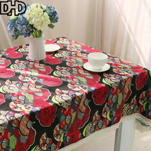 DHD Christmas Tablecloth Cotton Linen Table Cloth Decoration Rectangular Tea Table Cover for Home Covers for Outdoor Furniture(China)