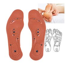 1Pair Magnetic Therapy Magnet Health Care Foot Massage Insoles Men Women Comfort Pads Foot Care Massager