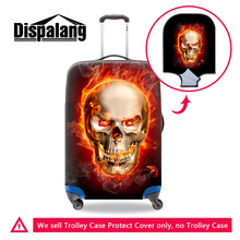 Dispalang skull print elastic trolley luggage protective covers for 18-30 inch suitcase anti-dust waterproof travel accessories