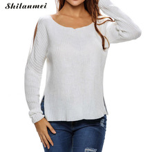 women sweaters christmas pullover winter off shoulder ladies knitwear knit jumpers trui dames kazak bayan sueter mujer sudaderas