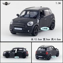 Gift for baby 1:36 1pc 12.5cm delicacy yufeng MINI COOPER dull polish black car alloy model boy children toy