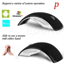 P Ultrathin 2.4GHz Wireless Mouse Foldable Arc Style Optical Mice USB Receiver For Pad PC Laptop Notebook Computer Mause O rato