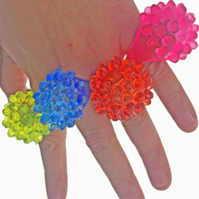 10pcs/lot Strawberry neon finger rings strawberry silica gel soft flash ring, finger led light