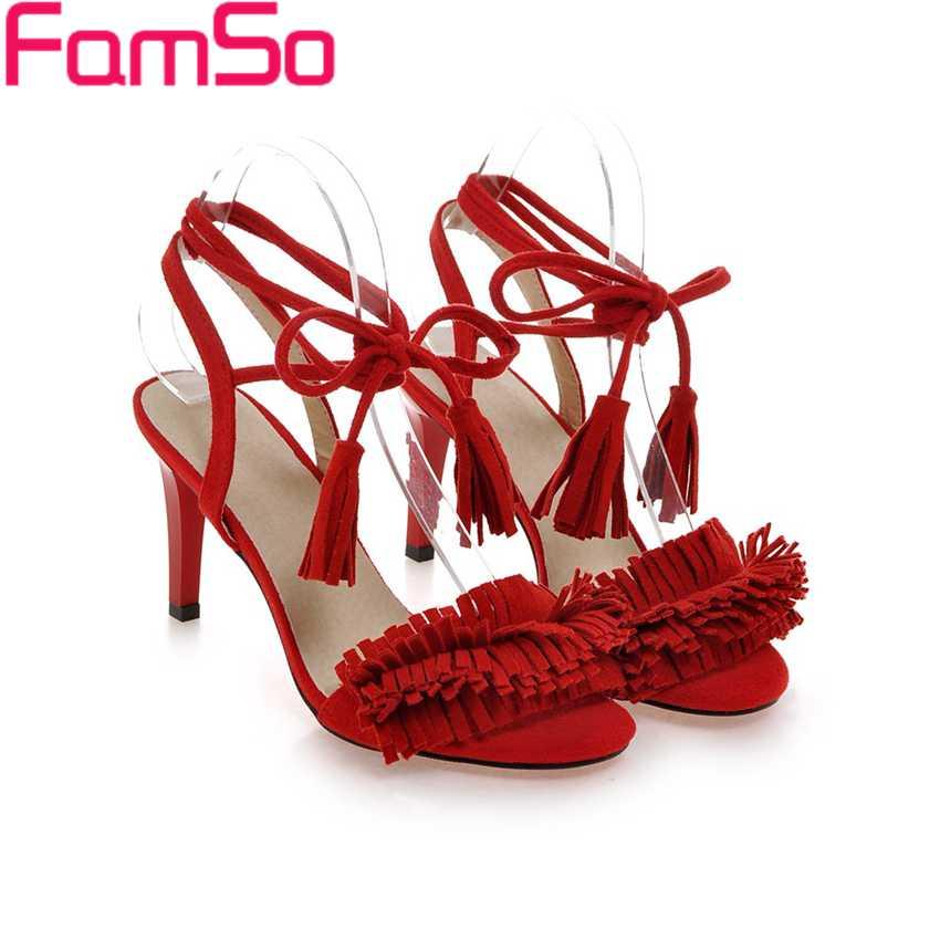 Free shipping 2017 Shoes Women Sandals Shoe High Heels Wedding Pumps Tassel Party Shoes Pumps Summer Womens Sandals PS2470<br><br>Aliexpress