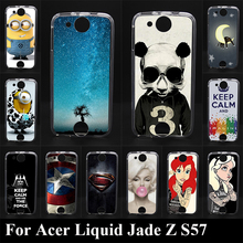 For Acer Liquid Jade Z S57 Soft High Quality Transpatent  Silicone tpu Color Paint Case Mobile Phone Cover Case