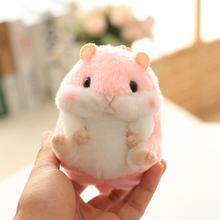 Aeruiy soft plush cartoon animal Pink/Blue small Hamster toy doll key chain,stuffed mouse toy,creative lover & birthday gift(China)