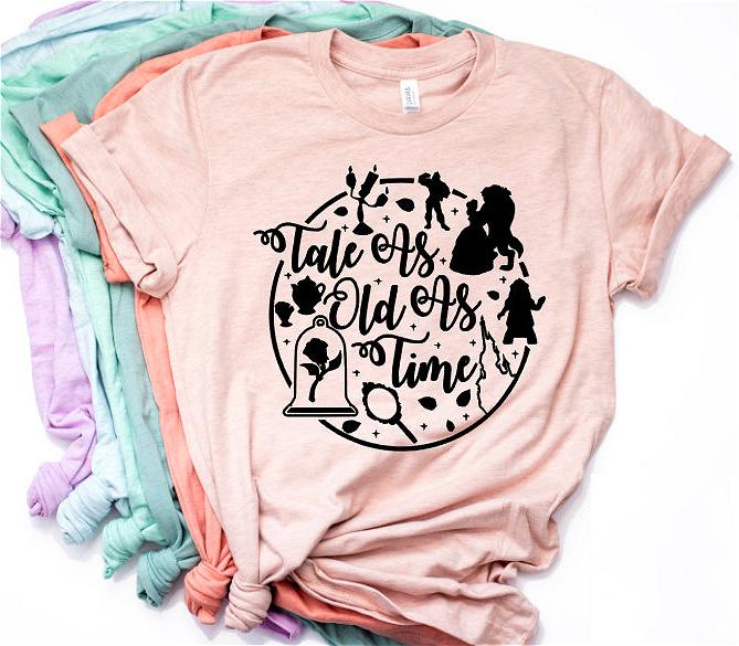 Camiseta La Bella y la Bestia 5