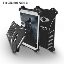 Mi Note 2 R-Just Batman Mobile Phone case Aluminum Metal Armor cover for Xiaomi Mi Note 2 with R Just Medal Holder bracket