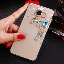 iSecret+ Case for Samsung Galaxy J5 Prime 5.0 inch Bling bling Rhinestone Clear plastic Cover for Samsung Galaxy On5 2016 Cases(China)