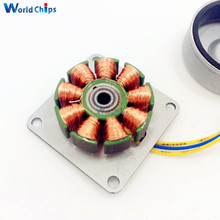 Three-phase AC Micro Brushless Generator Mini Wind Hand Generator Motor With Led Lamp Bead 3-24V DIY For Arduino(China)