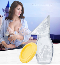 Silicone Breast Milk Pump Feeding Milk Bottle Nipple Collector Factory Outlets With Lid Women Silica gel Manual breast pumps