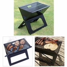 Foldable charcoal grill V Type Folding Portable Outdoor Charcoal BBQ Grill Easily Cleaned Easily Assembled