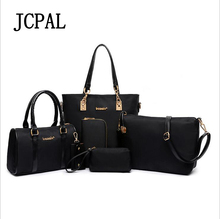 Jcpal New Arrival Rushed Letter Zipper Famous Brand Women Bag Top-handle Bags 2017 Messenger Handbag Set Pu Leather Composite