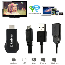 1080P HDMI AV Adapter wireless wifi video dongle for iPad iPhone X 8 5 5s 6 6s 7 plus Samsung Galaxy S6 S8 S7 Edge Android to TV(China)