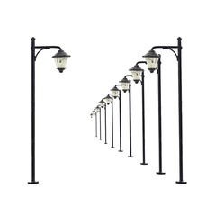 10pcs Model Railway Led Lamppost Lamps Street Lights N Scale 5cm 12V New LYM11 model outdoor lamp yard light leds(China)