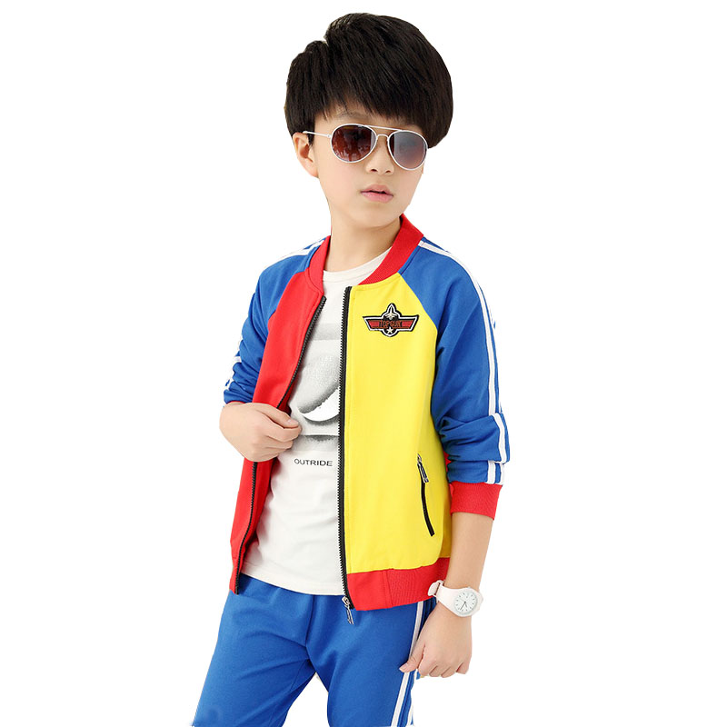 2017 new autumn childrens clothing set  boys and girls two piece sets 10 14 15 age kids clothing suit baby boy clothes girl set<br>