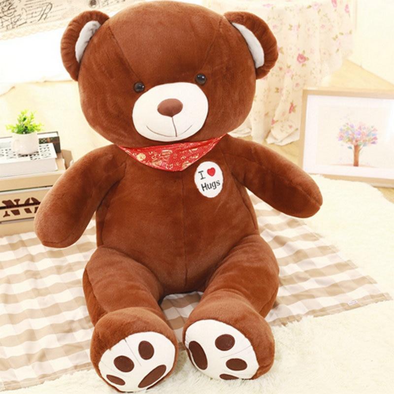 100cm Wholesale stuffed plush bear cloth doll animals doll birthday gift for Kids toys New Style white bear plush toys <br><br>Aliexpress