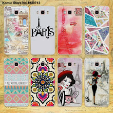 Pink paris eiffel tower i love Paris doodles design clear hard Case for Samsung galaxy J510 J710 J5(2017) J3 J2Prime J5 J7 J1