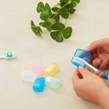 5 Piece Set Portable Travel Toothbrush Cover Wash Brush Cap Case Box #RJ16