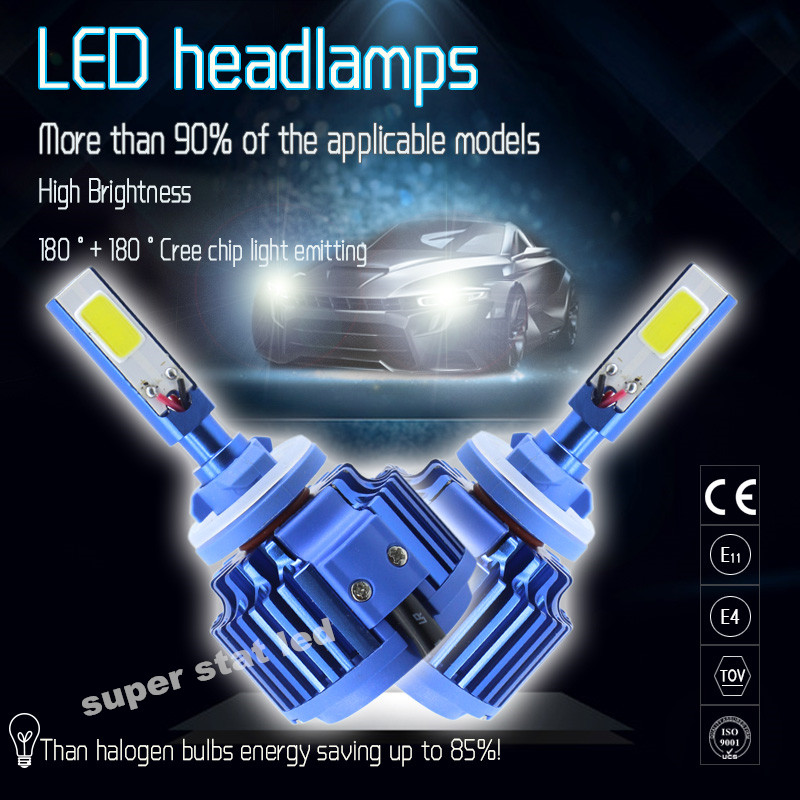 2X  9005 HB3 H10 9006 HB4 Car Headlights Kit 80W 8000lm Auto Front Light    Fog Bulb 6000K Xenon White  LED Automotive Headlamp<br><br>Aliexpress
