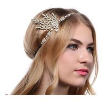 Art Deco 1920s Vintage Bridal Headpiece Costume Hair Accessories Flapper Great Gatsby Inspired Leaf Medallion Pearl Headband