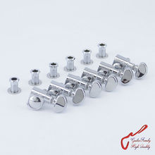 1 Set 6 In-line Genuine Grover Guitar Machine Heads Tuners 1:18 Chrome ( without original packaging )(China)