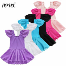 2017 Leotard Unitards Girls flower Costume Kids Ballet Dance Stage Professional Ballet Tutu Dress Gymnastics Dancewear Dress