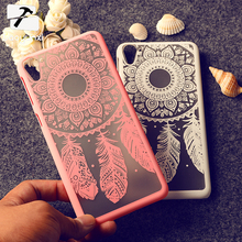 Rubberized Painted for For HTC 826 D826 D826w bag Dream Catcher Vintage Damask Flower Hard Plastic phone skin case