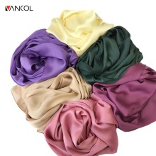Vancol 2017 new arrival high quality Brand Mulberry Silk Scarf Shawl wrap plus size 180*80 for women scarf tops spring autumn