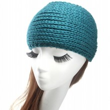 women's headband ski band button headband medium wide size soft and warm ear warmer Crochet Buttoned headband(China)