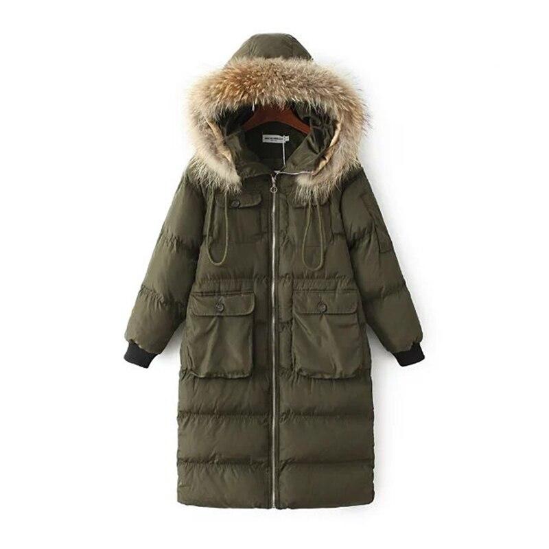 Womens Winter Jackets And Coats Fur Collar Hooded Coat Warm Jacket Female Army Green Outerwear cotton padded Casual Down CoatÎäåæäà è àêñåññóàðû<br><br>
