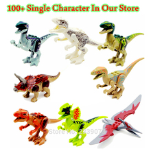 Single Sale Dinosaurs World Tyrannosaurus Rex Mini Blocks Movie Kid Baby Toys Building Blocks Sets Model Brick For Children(China)