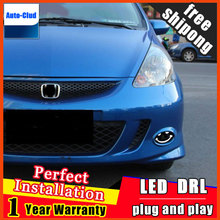 Car-styling LED Fog Light For Honda BRIO AMAZE 2010-2015 LED Fog Lamp With Lens And LED Day Time Running Ligh DRL 2 function
