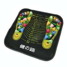 JEYL Hot New Colored Plastic Walk Stone Square Healthy Foot Massage Mat Pad Cushion(China)