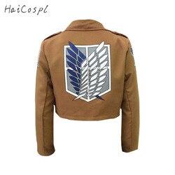 Атака Титанов Косплей Shingeki No Kyojin Косплей куртка японского аниме Коричневое Пальто для женщин мужчин взрослых
