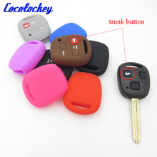 Cocolockey Silicone Car Key Cover Case Shell Fob Fit for LEXUS for TOYOTA Remote Key Case 3 Buttons No Logo(China)